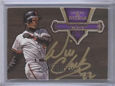 2012 Topps Five Star - Gold Signatures - Purple #FSSI-WC - Will Clark /10