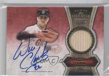 2012 Topps Five Star Autographed Relics Gold #FSAR-WC - Will Clark /55