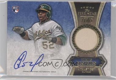 2012 Topps Five Star Autographed Relics Gold #FSAR-YC - Yoenis Cespedes /55