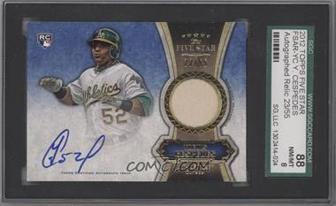 2012 Topps Five Star Autographed Relics Gold #FSAR-YC - Yoenis Cespedes /55 [SGC 88]