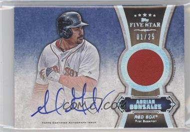 2012 Topps Five Star Autographed Relics Rainbow #FSAR-AG - Adrian Gonzalez /25