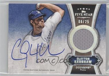 2012 Topps Five Star Autographed Relics Rainbow #FSAR-CK - Clayton Kershaw /25