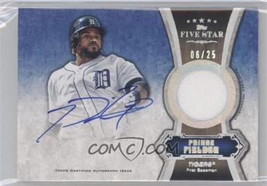 2012 Topps Five Star Autographed Relics Rainbow #FSAR-PF - Prince Fielder /25