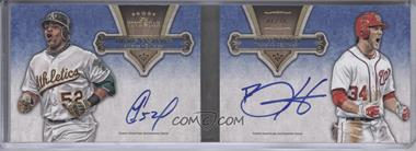 2012 Topps Five Star Dual Autographed Books #FSBDA-CH - Yoenis Cespedes, Bryce Harper /10
