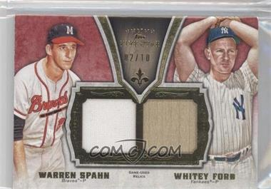 2012 Topps Five Star Dual Legends Relics #FSDLR-SF - Warren Spahn, Whitey Ford /10