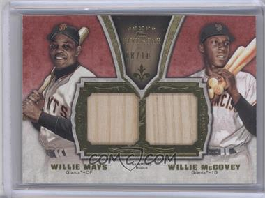 2012 Topps Five Star Dual Legends Relics #FSDLR-WW - Willie Mays, Willie McCovey /10