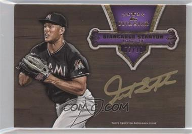 2012 Topps Five Star Gold Signatures Purple #FSSI-GS - Giancarlo Stanton /10