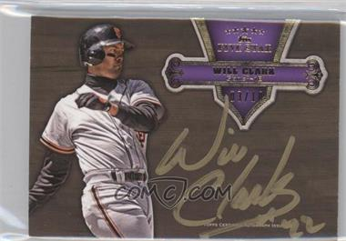 2012 Topps Five Star Gold Signatures Purple #FSSI-WC - Will Clark /10