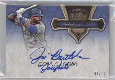 2012 Topps Five Star Quotable Autographs Active Players #FSQA-JBA - Jose Bautista /10
