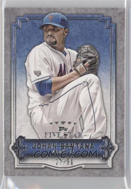 2012 Topps Five Star #68 - Johan Santana /80