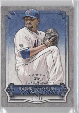 2012 Topps Five Star #68 - Johan Santana /80