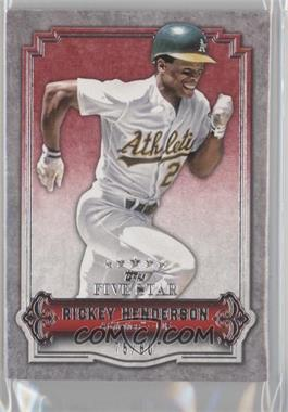 2012 Topps Five Star #75 - Rickey Henderson /80