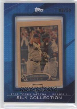 2012 Topps Framed Silk Collection #SESA - Sergio Santos /50
