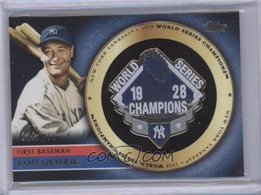 2012 Topps Gold Commemorative Pin Card #GCP-LG - Lou Gehrig /736