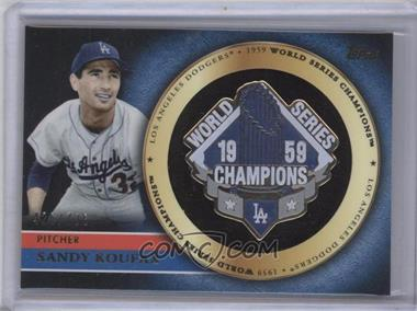 2012 Topps Gold Commemorative Pin Card #GCP-SK - Sandy Koufax /736