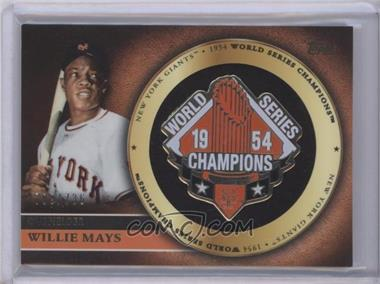 2012 Topps Gold Commemorative Pin Card #GCP-WM - Willie Mays /736