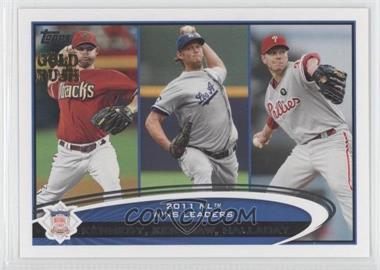 2012 Topps Gold Rush Stamp #156 - Ian Kennedy, Clayton Kershaw, Roy Halladay