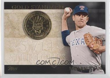 2012 Topps Gold Standard #GS-40 - Nolan Ryan