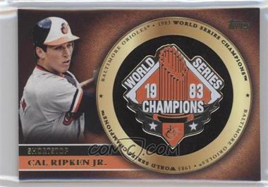 2012 Topps Gold World Series Pin Card #GWSP-CR - Cal Ripken Jr.