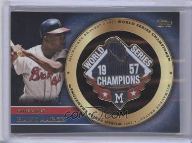 2012 Topps Gold World Series Pin Card #GWSP-HA - Hank Aaron