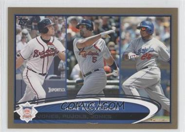 2012 Topps Gold #192 - Albert Pujols, Andruw Jones, Chipper Jones /2012