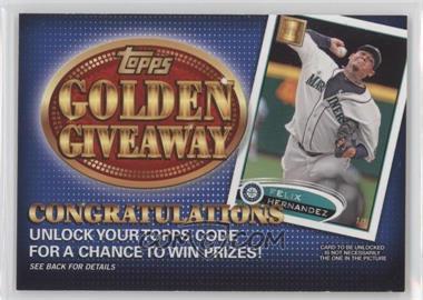 2012 Topps Golden Giveaway Code Cards #GGC-12 - Felix Hernandez