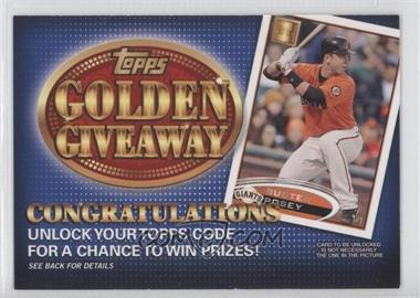 2012 Topps Golden Giveaway Code Cards #GGC-13 - Buster Posey