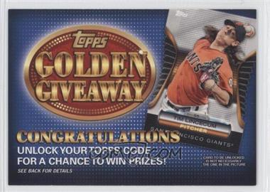 2012 Topps Golden Giveaway Code Cards #GGC-17 - Tim Lincecum