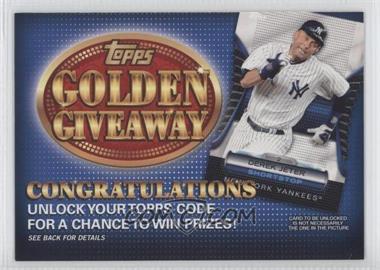 2012 Topps Golden Giveaway Code Cards #GGC-19 - Derek Jeter