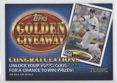 2012 Topps Golden Giveaway Code Cards #GGC-2 - Troy Tulowitzki