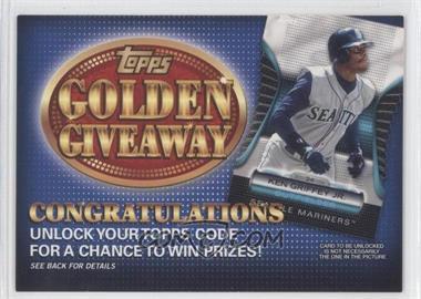 2012 Topps Golden Giveaway Code Cards #GGC-20 - Ken Griffey Jr.