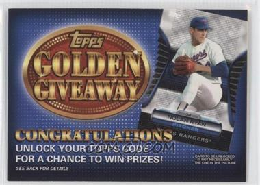 2012 Topps Golden Giveaway Code Cards #GGC-22 - [Missing]