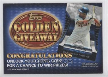 2012 Topps Golden Giveaway Code Cards #GGC-23 - Tony Gwynn