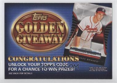 2012 Topps Golden Giveaway Code Cards #GGC-25 - Warren Spahn