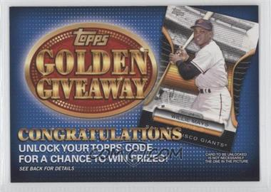2012 Topps Golden Giveaway Code Cards #GGC-7 - Willie Mays