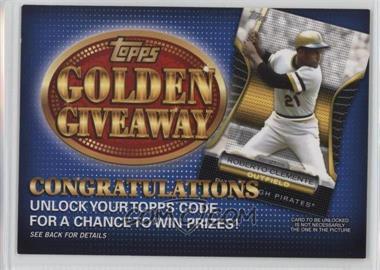 2012 Topps Golden Giveaway Code Cards #GGC-8 - Roberto Clemente