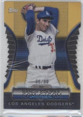 2012 Topps Golden Giveaway Contest Golden Moments Die-Cut Gold #GMDC-11 - Sandy Koufax /99