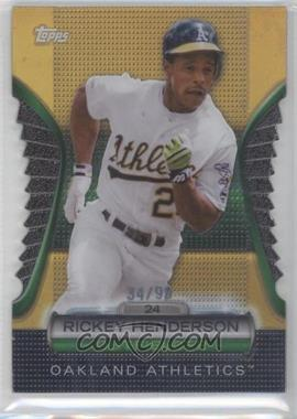 2012 Topps Golden Giveaway Contest Golden Moments Die-Cut Gold #GMDC-20 - Rickey Henderson /99