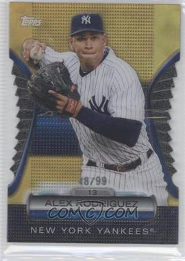 2012 Topps Golden Giveaway Contest Golden Moments Die-Cut Gold #GMDC-37 - Alex Rodriguez /99