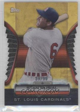2012 Topps Golden Giveaway Contest Golden Moments Die-Cut Gold #GMDC-4 - Stan Musial /99