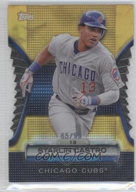 2012 Topps Golden Giveaway Contest Golden Moments Die-Cut Gold #GMDC-78 - Starlin Castro /99