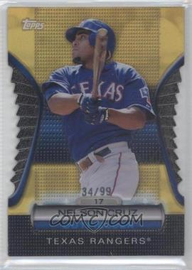 2012 Topps Golden Giveaway Contest Golden Moments Die-Cut Gold #GMDC-85 - Nelson Cruz /99