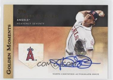 2012 Topps Golden Moments Certified Autographs [Autographed] #GMA-JW - Jered Weaver