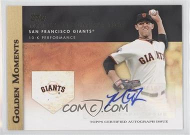 2012 Topps Golden Moments Certified Autographs [Autographed] #GMA-N/A - Madison Bumgarner