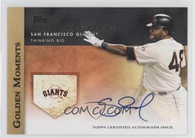 2012 Topps Golden Moments Certified Autographs [Autographed] #GMA-PS - Pablo Sandoval