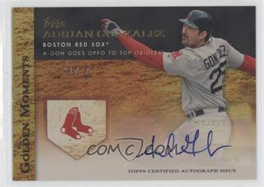 2012 Topps Golden Moments Certified Autographs Gold [Autographed] #GMR-AG - Adrian Gonzalez /10