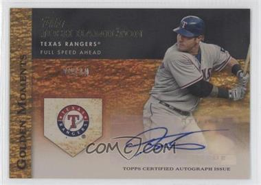 2012 Topps Golden Moments Certified Autographs Gold #GMR-JHA - Josh Hamilton /10