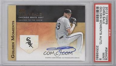 2012 Topps Golden Moments Certified Autographs #GMA-CS - Chris Sale [PSA 9]