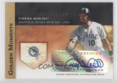 2012 Topps Golden Moments Certified Autographs #GMA-GS - Gary Sheffield