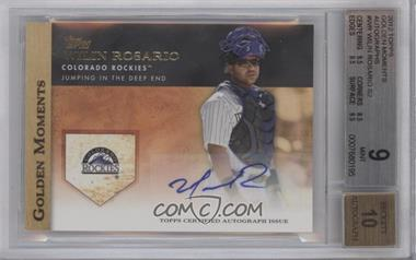 2012 Topps Golden Moments Certified Autographs #GMA-WR - Wilin Rosario [BGS 9]